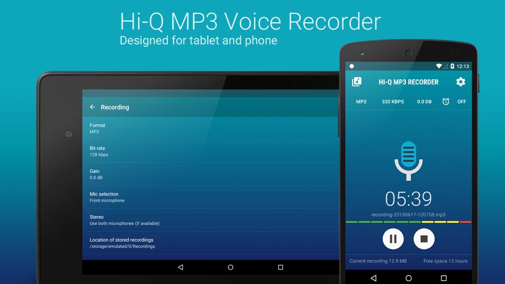 دانلود Hi-Q MP3 Voice Recorder Pro 2.4.2-b1 - برنامه ضبط صدا با کیفیت بالا برای اندروید