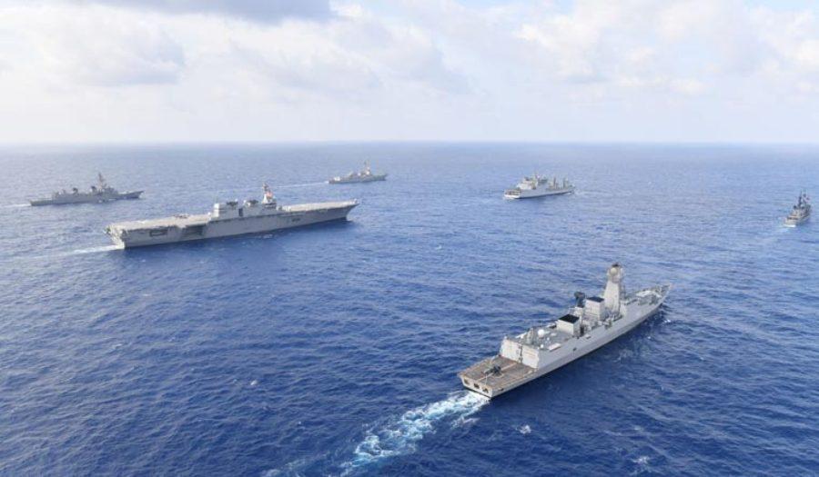 هند و سه کشور دیگر در دریای جنوب چین رزمایش آبی برگزار کردند
