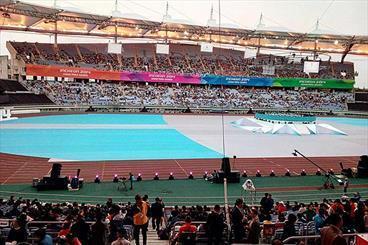 ورزشگاه پر نشد، تصاویری از افتتاحیه بازیهای پاراآسیایی