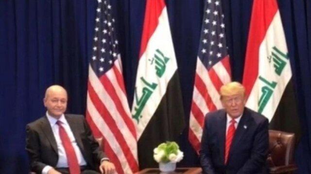 برهم صالح به ترامپ: عراق مسؤول حفاظت از خاک و حاکمیت خود است