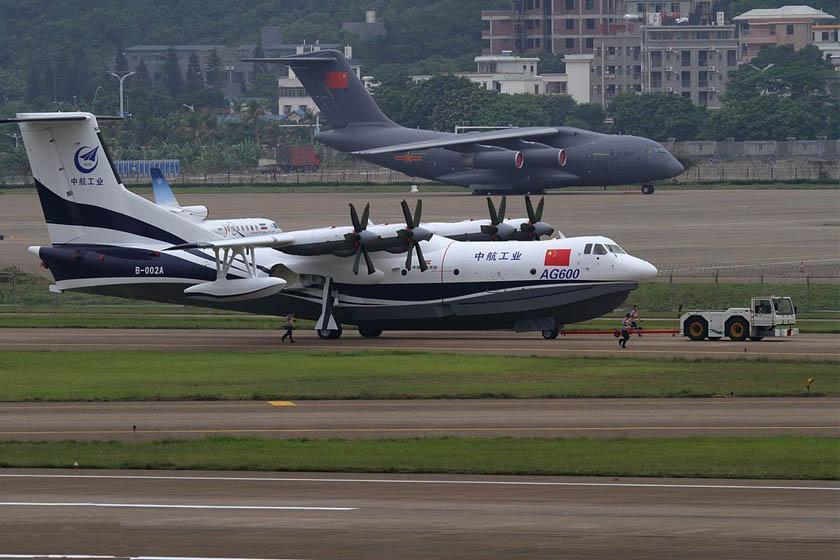 آزمایش بزرگترین هواپیمای آبی - خاکی عظیم ساخت چین
