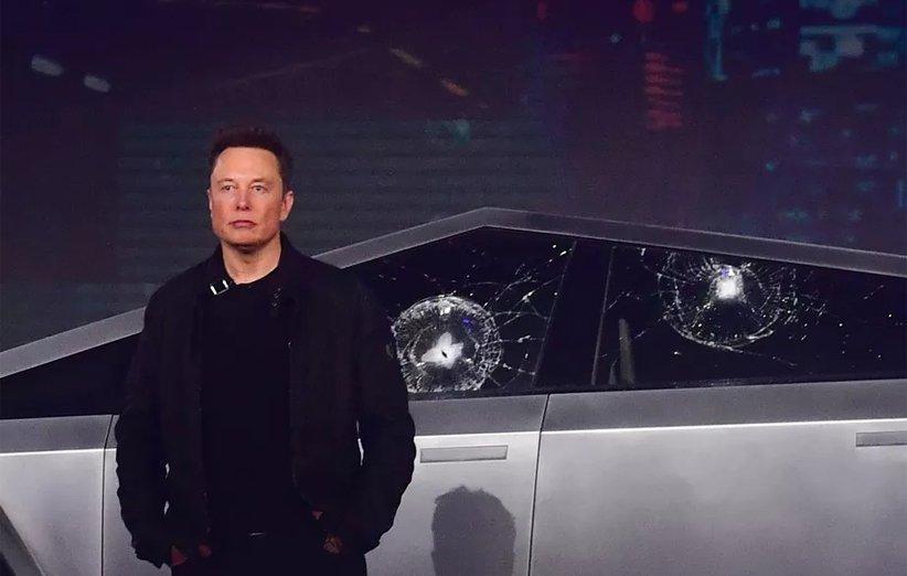 توضیحات ایلان ماسک در رابطه با شکسته شدن شیشه های خودروی سایبرتراک