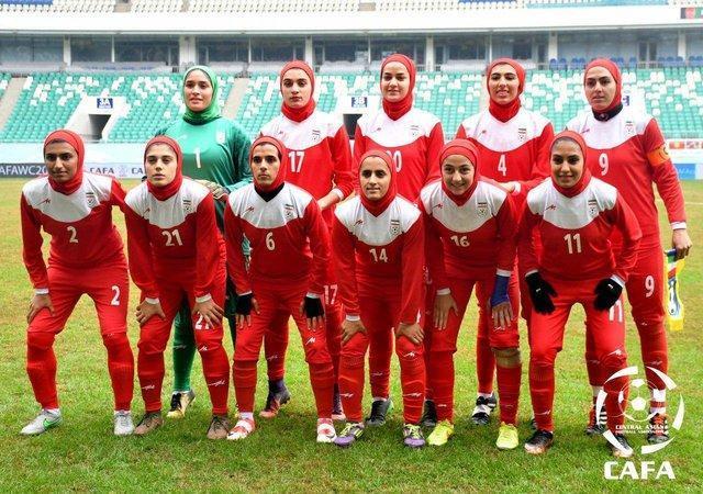 صعود یک پله ای بانوان فوتبالیست ایران در رنکینگ جهانی