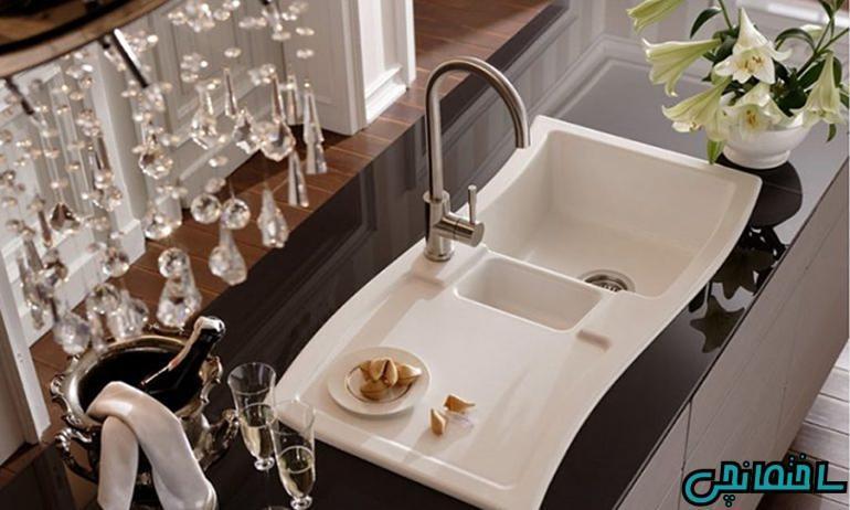 انواع سینک ظرفشویی در آشپزخانه های مدرن