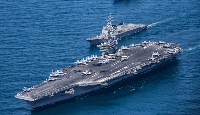 استقرار ناو های هواپیمابر آمریکا در آب های اطراف چین