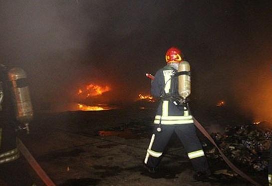 اطفای آتش سوزی کلینیک سینا در تجریش
