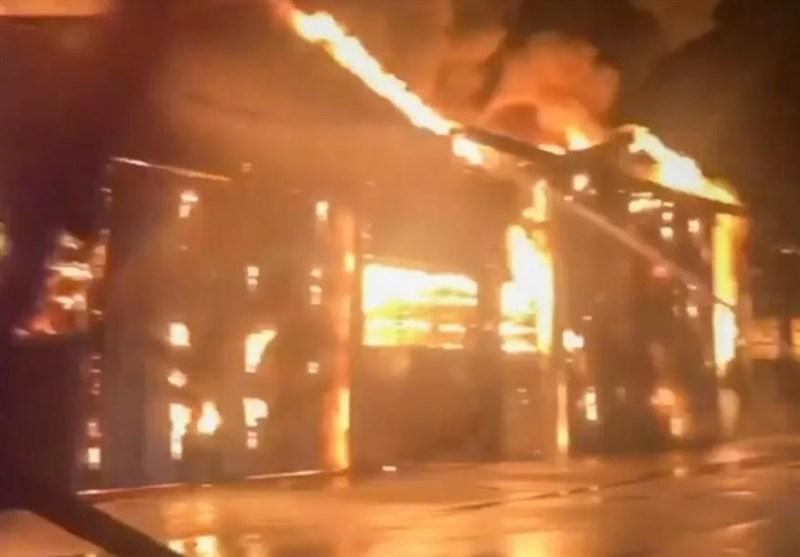 انفجار و آتش سوزی در شهر بندری ایتالیا
