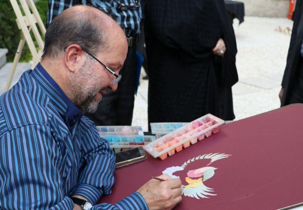 خبرنگاران اسکندرپور خرمی هنرمند نقاش و خادم بازسازی عتبات عالیات درگذشت
