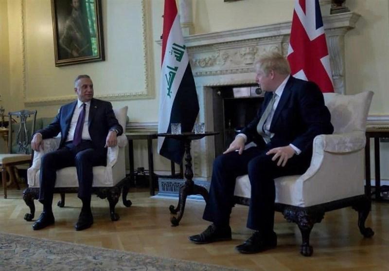 عراق، دیدار الکاظمی با جانسون در انگلیس