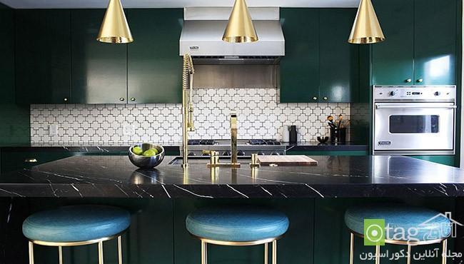 تم متالیک آشپزخانه در انواع سایه ها و تناژهای روشن و تاریک