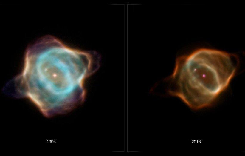 تلسکوپ فضایی هابل تغییر سریع یک سحابی جوان را ثبت کرد