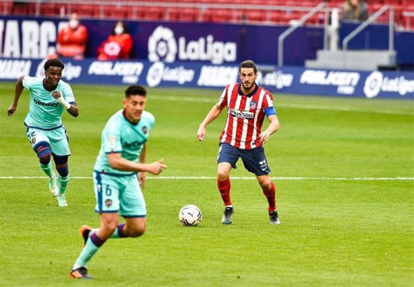 لالیگا، لطف عظیم لوانته در حق رئال مادرید و بارسلونا با شکست شاگردان سیمئونه