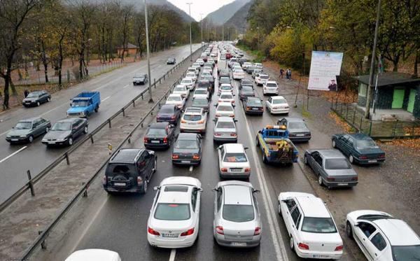 آغاز موج جدید سفرها به استان های شمالی، ترافیک در هراز و چالوس
