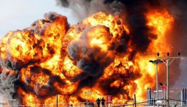 آتش سوزی در پالایشگاه نفت حیفا