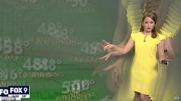 (ویدئو) اتفاق جالب برای کارشناس هواشناسی